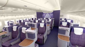 Business Class seats on Thai Airways