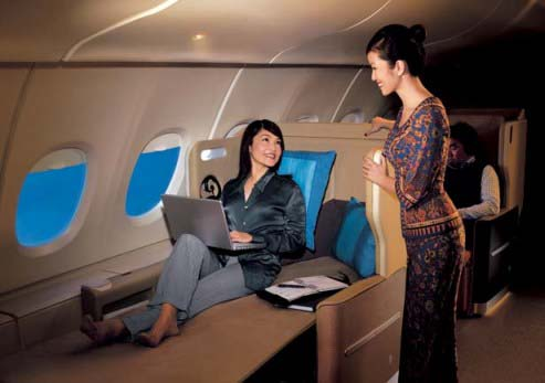 Business Class nonstop flights to Singapore