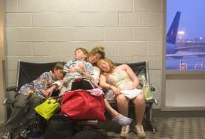 Holiday travel at airports