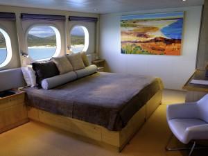 Luxury Yacht cabin in Australia