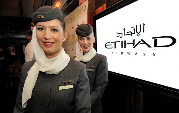 Etihad Airways hostess