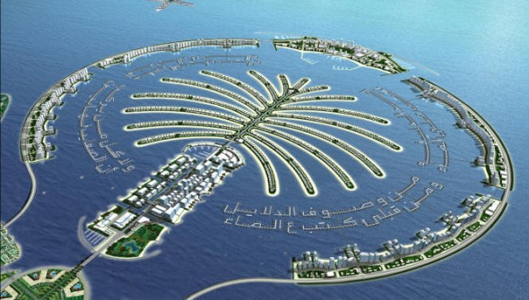 Resort islands in Dubai