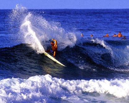 Surfing at Turtle Bay Resort