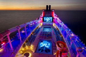 Disney Dream at Night