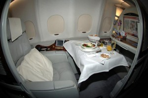 First Class travel emirates
