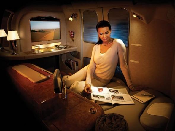 Sleeping on Emirates
