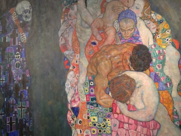 Death and Life by Gustav Klimt at Leopold Museum