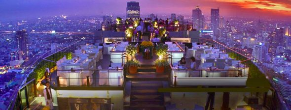 Rooftop views at the Banyan Tree Bangkok