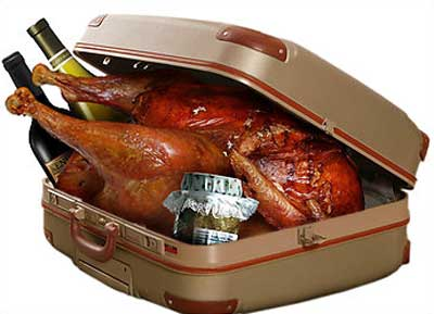 Packing a turkey