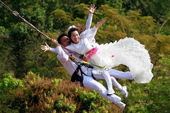 bungee jump wedding